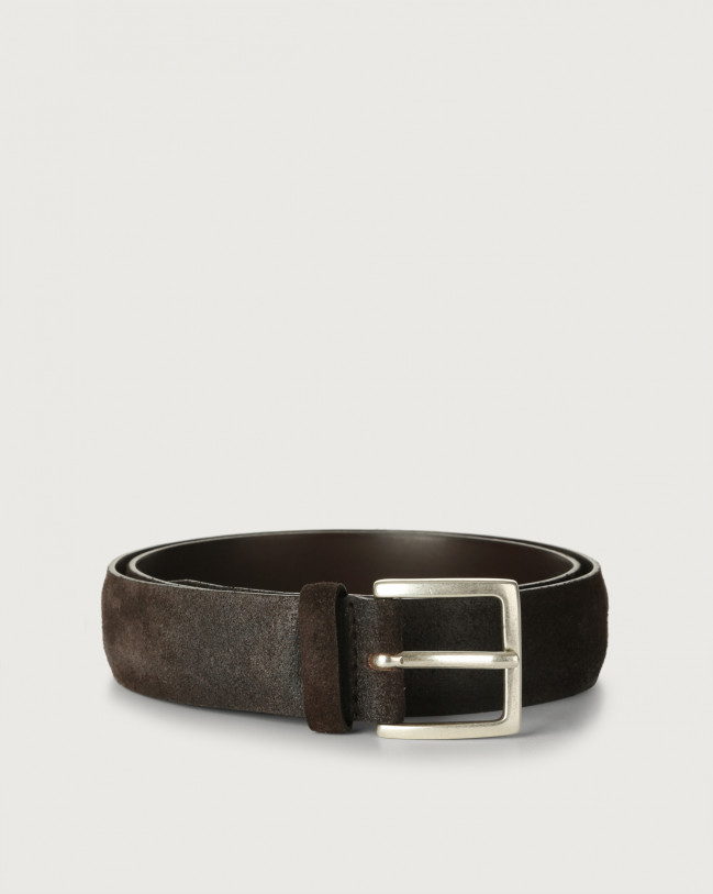 Orciani Cloudy suede belt Suede Chocolate