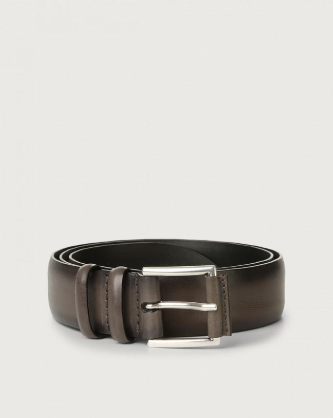 Orciani Buffer leather belt Grey