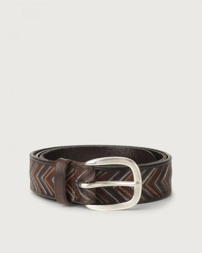 Orciani Arrow leather belt Leather Unique
