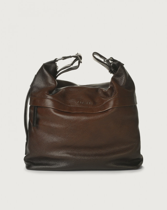 Orciani Micron Deep leather crossbody bag Leather Brown
