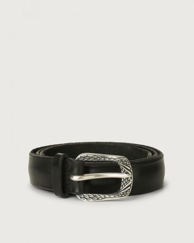 Orciani Bull Soft B leather belt 3 cm Leather Black