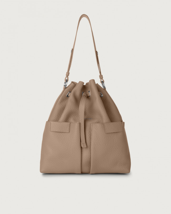 Orciani Tessa Soft large leather bucket bag Leather Taupe