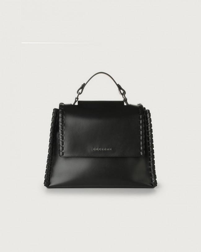 Orciani Sveva Liberty Mesh small leather handbag with strap Leather Black
