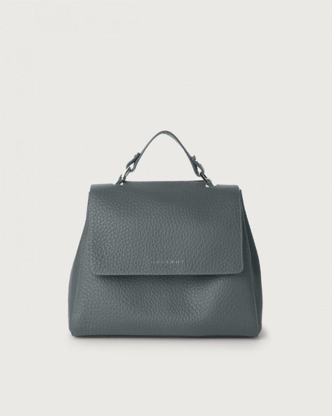Orciani Sveva Soft small leather handbag with strap Leather Blue