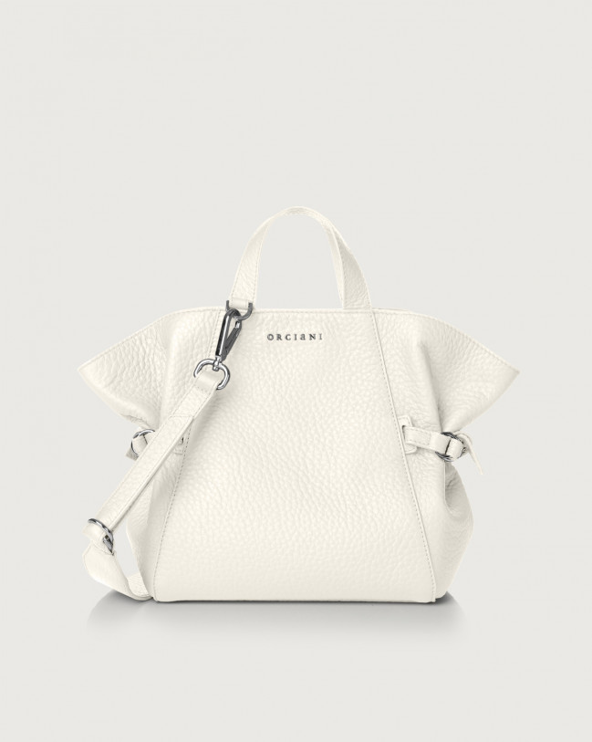 Orciani Fan Soft small leather handbag Leather White
