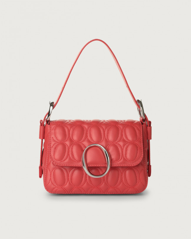 Orciani Soho Matelassé leather mini bag with strap Leather Red