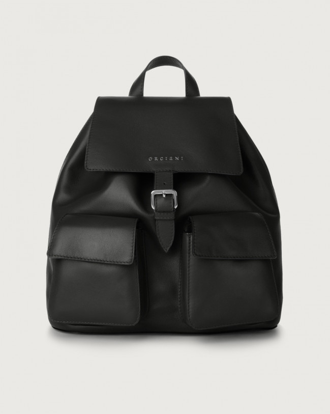 Orciani Charlotte Liberty leather backpack Leather Black