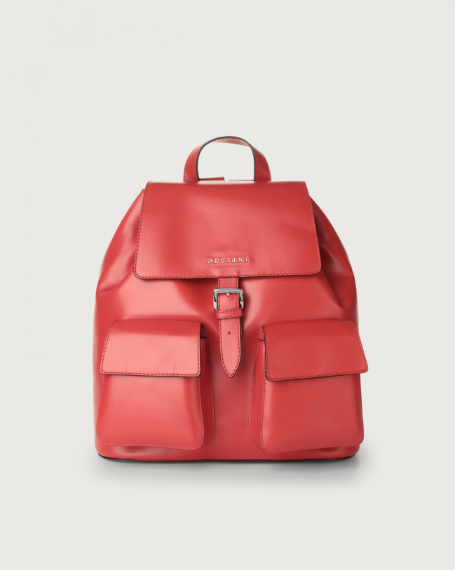 Orciani Charlotte Liberty leather backpack Leather Red