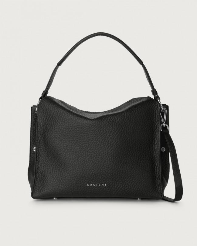 Orciani Twenty Soft leather shoulder bag Leather Black