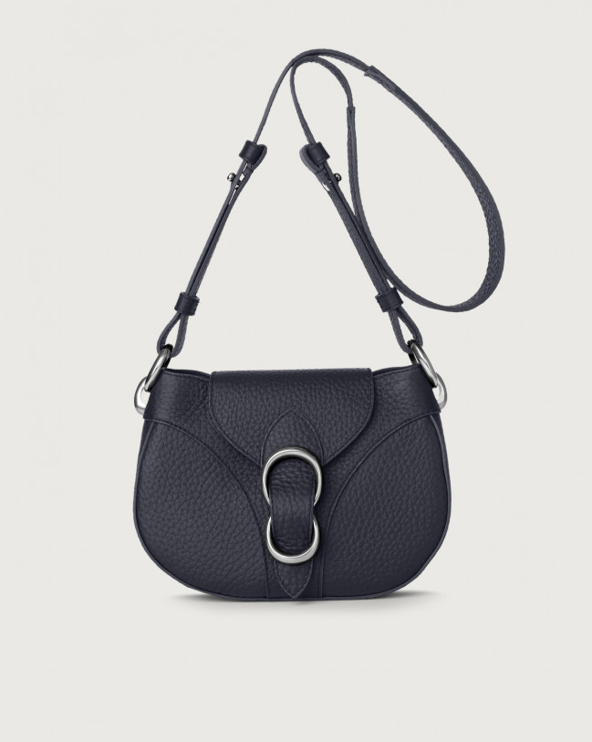 Orciani Beth Soft leather crossbody bag Leather Navy