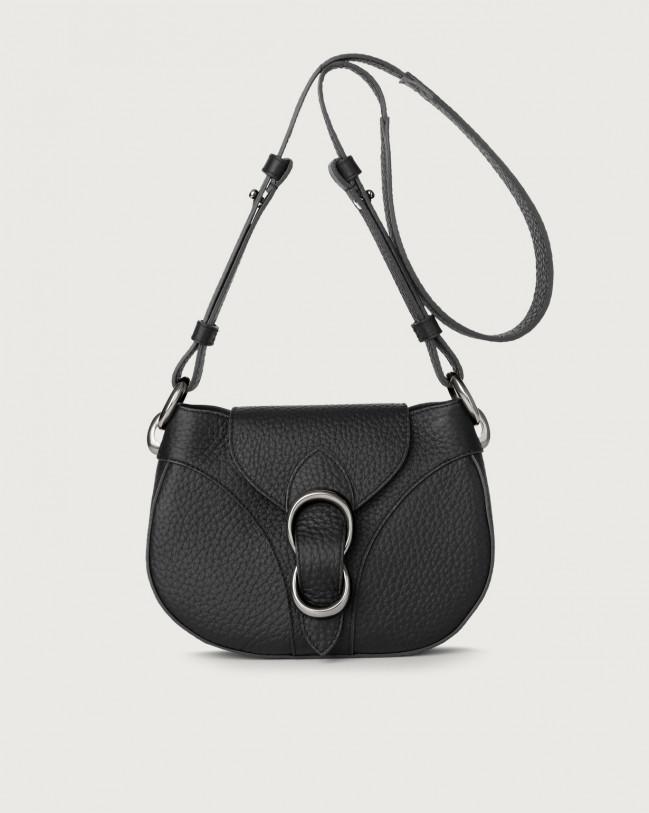 Orciani Beth Soft leather crossbody bag Leather Black