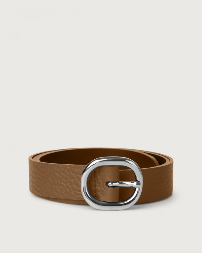 Orciani Soft leather belt 3 cm Leather Caramel