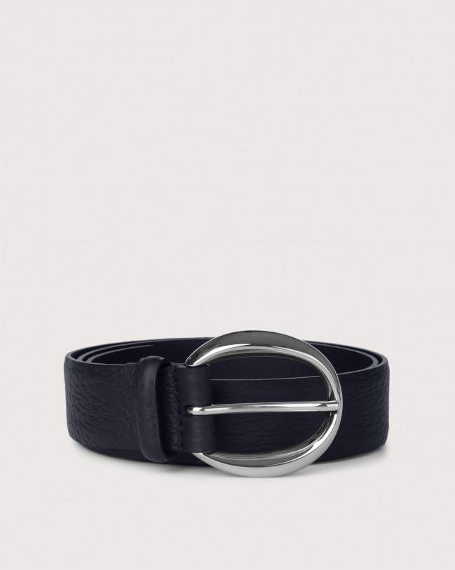 Orciani Soft leather belt Leather Navy