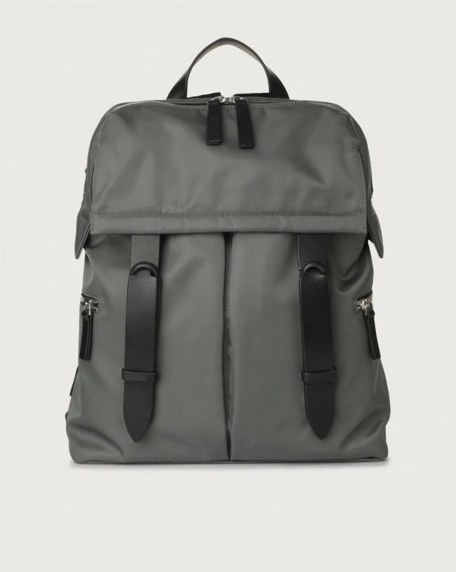 Orciani Nobuckle Eco-logic Planet backpack Canvas, Leather Grey