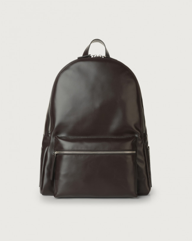 Orciani Liberty leather backpack Chocolate