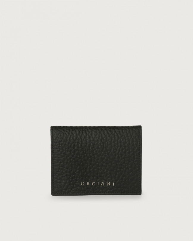 Orciani Soft small leather wallet Leather Black
