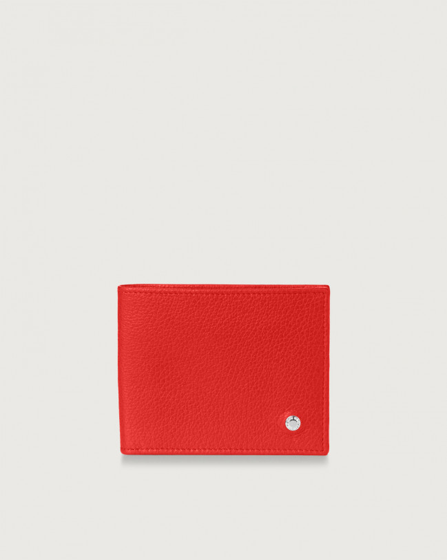Orciani Micron leather wallet Leather Ferrari Red