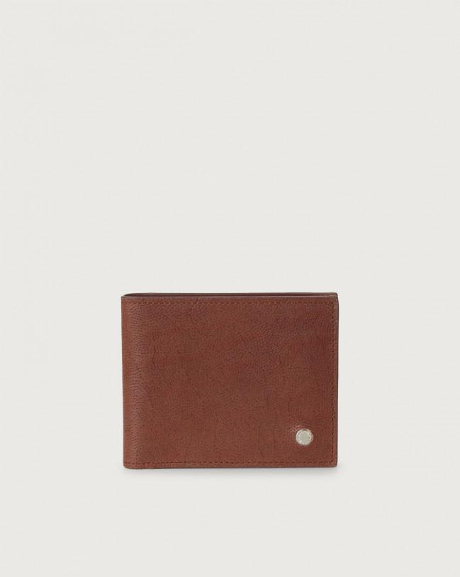 Orciani Frog leather wallet Leather Papaya