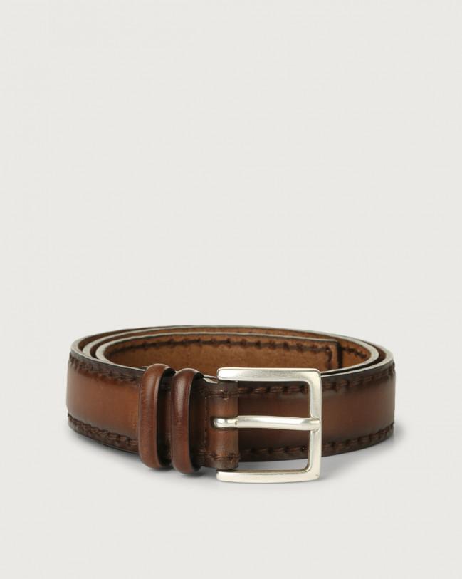 Orciani Buffer leather belt Leather Cognac