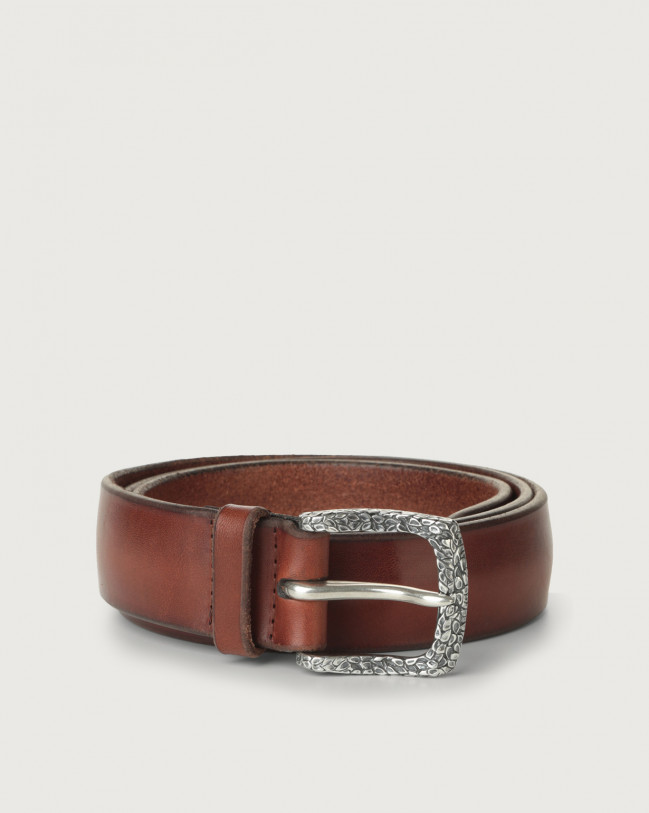 Orciani Bull Soft A leather belt Leather Brown