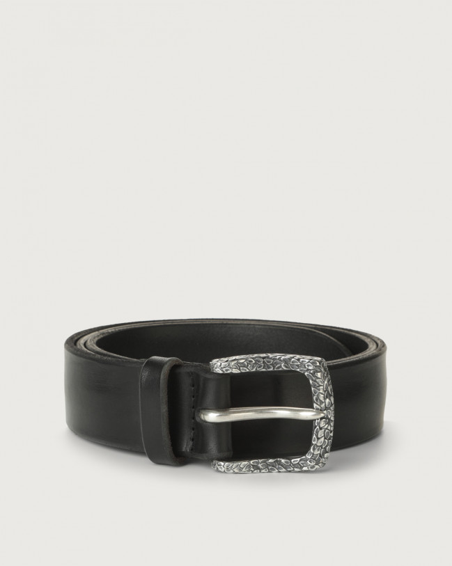 Orciani Bull Soft A leather belt Leather Black