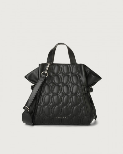 Fan Matelassé small leather handbag