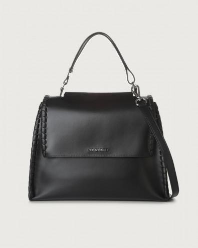 Sveva Big Mesh medium leather shoulder bag with strap