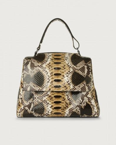 Sveva Naponos medium python leather shoulder bag with strap