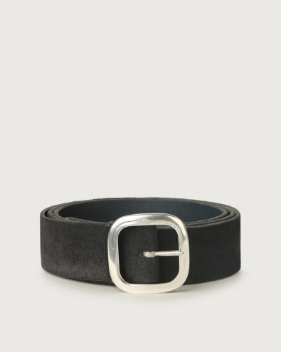 Hunting Double suede and leather belt 3,5 cm