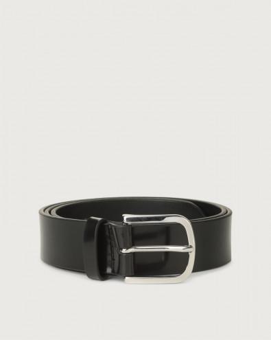 Bright classic patent leather belt