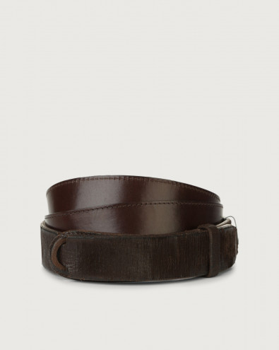Cutting leather Nobuckle belt