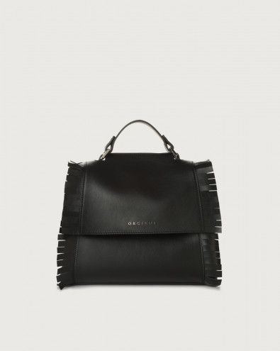 Sveva Liberty Fringe small leather handbag with strap