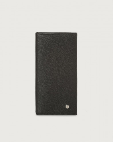 Micron leather vertical wallet