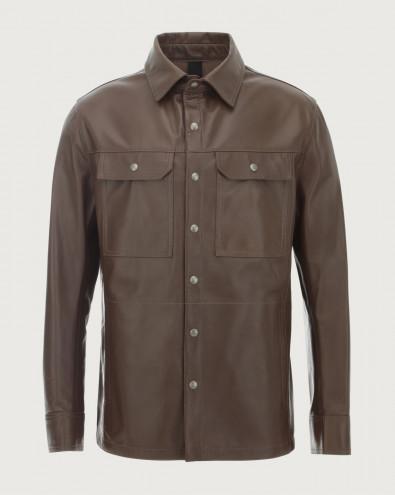 Nappa Nature leather shirt jacket