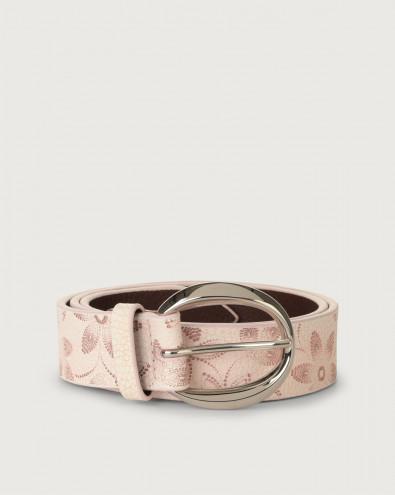 Micron Color leather belt