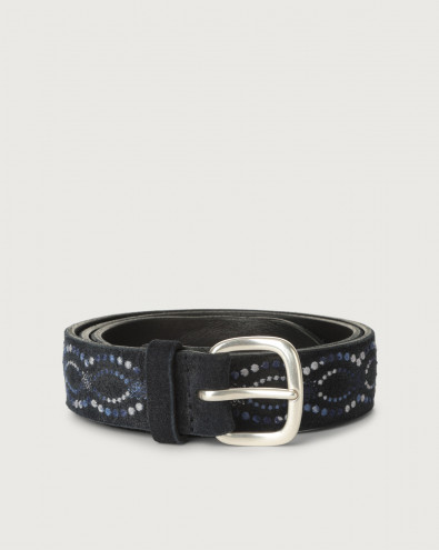 Cloudy Frame suede belt