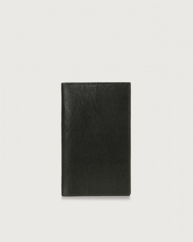 Frog leather large vertical wallet
