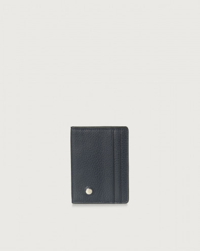 Micron hinge opening leather card holder
