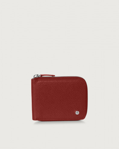 Micron leather wallet with coin pocket
