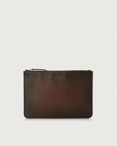 Micron Deep large leather pouch