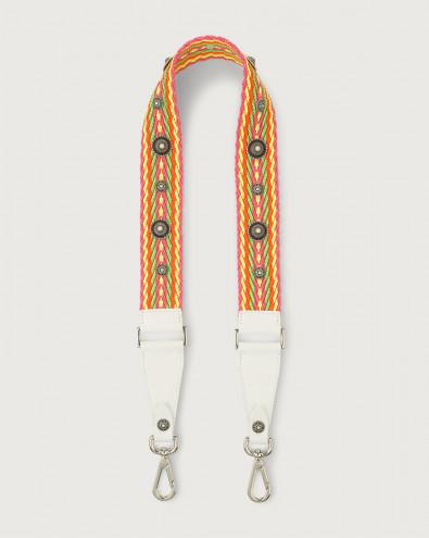Crash Bone fabric and leather strap