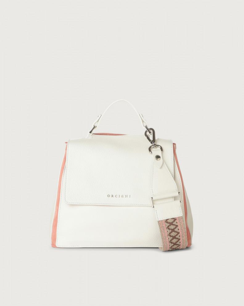 Sveva Warm small leather handbag with strap