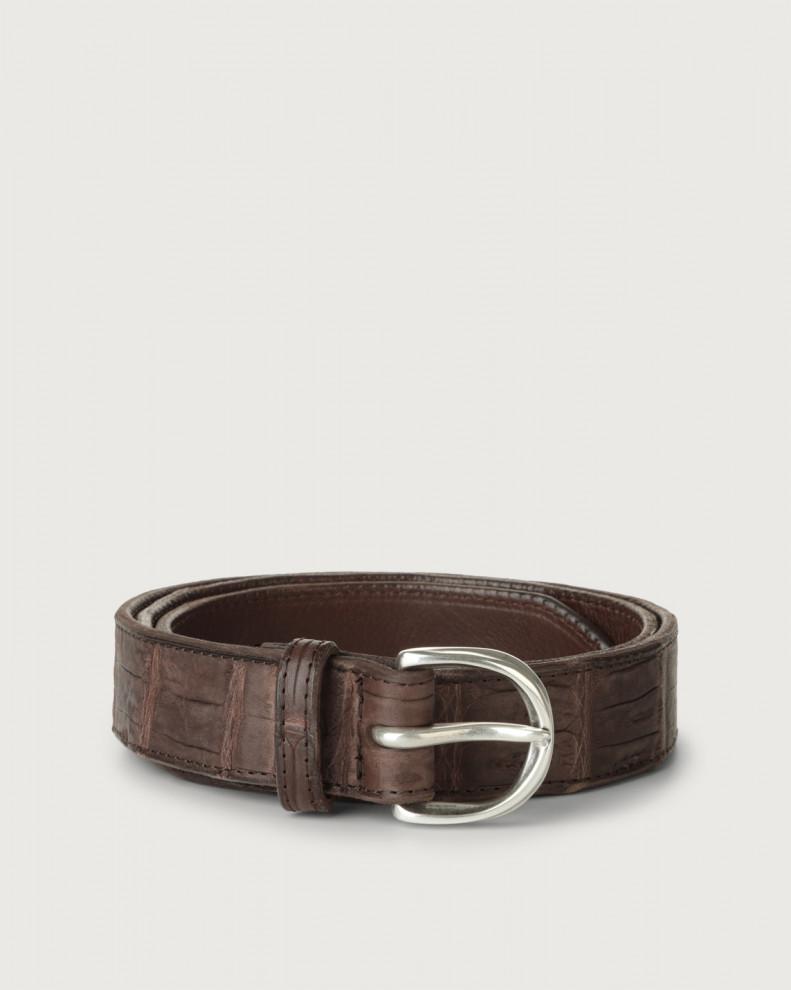 Cocco Coda classic crocodile leather belt