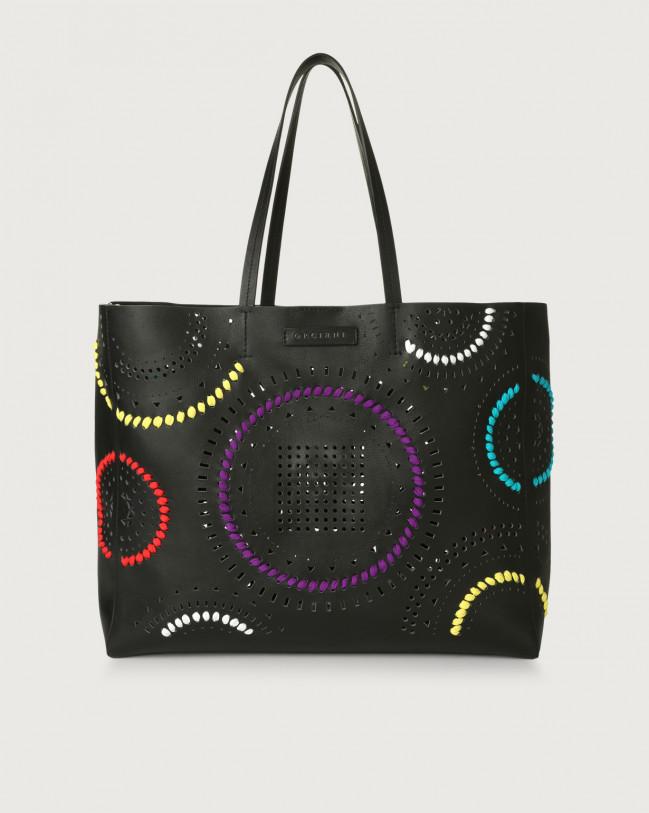 Orciani Le Sac Carioca leather tote bag Leather Black