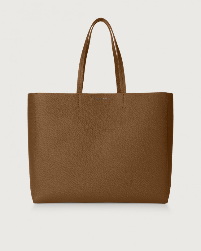 Orciani Le Sac Soft leather tote bag Leather Caramel
