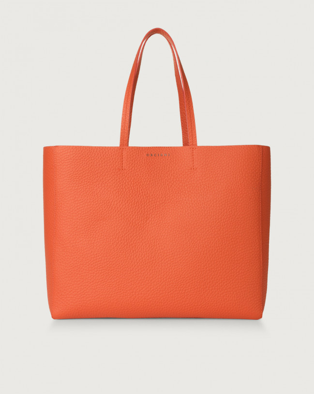 Orciani Le Sac Soft leather tote bag Leather Coral
