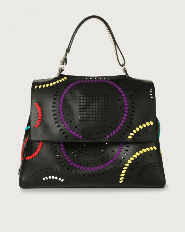 Orciani Sveva Carioca large leather shoulder bag Leather Black