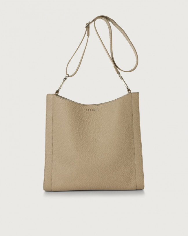 Orciani Iris Soft leather crossbody bag Leather Sand