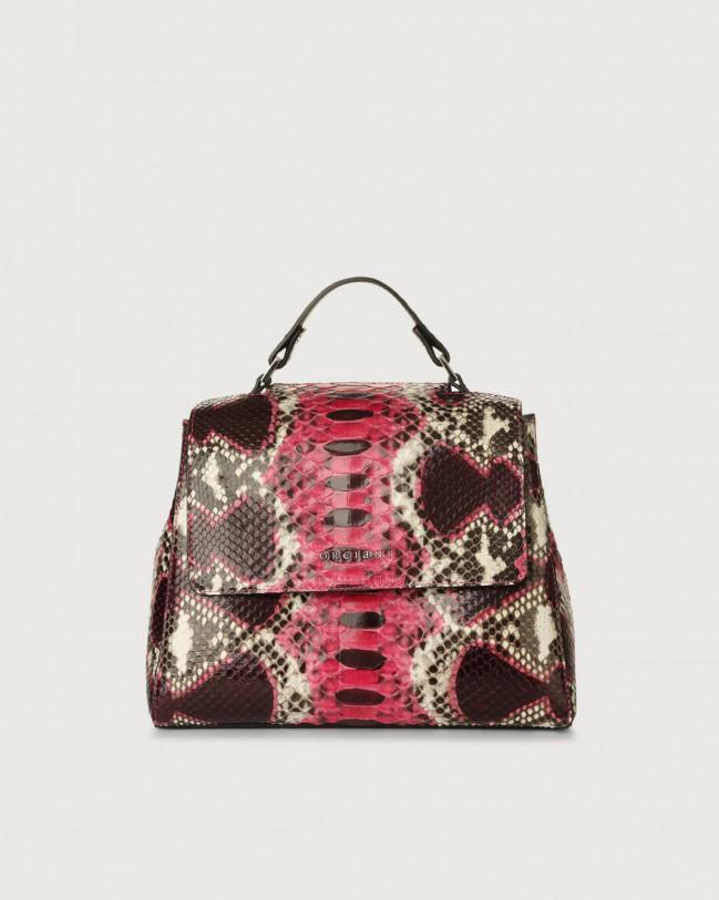 Orciani Sveva Naponos small python leather handbag Python Leather Pink