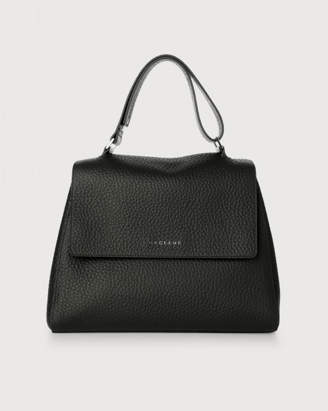 Orciani Sveva Soft medium leather shoulder bag Leather Black